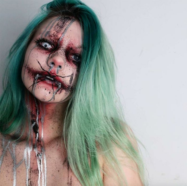 maquillaje para Halloween zombi