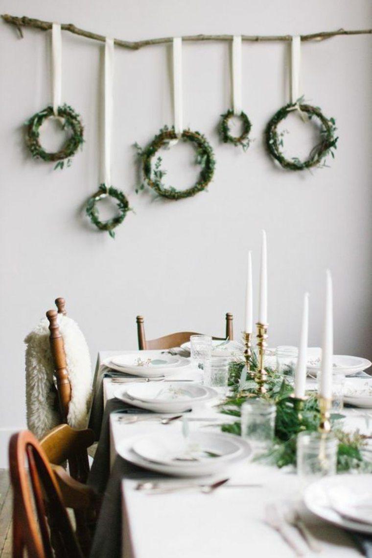 adornos mesa de Navidad