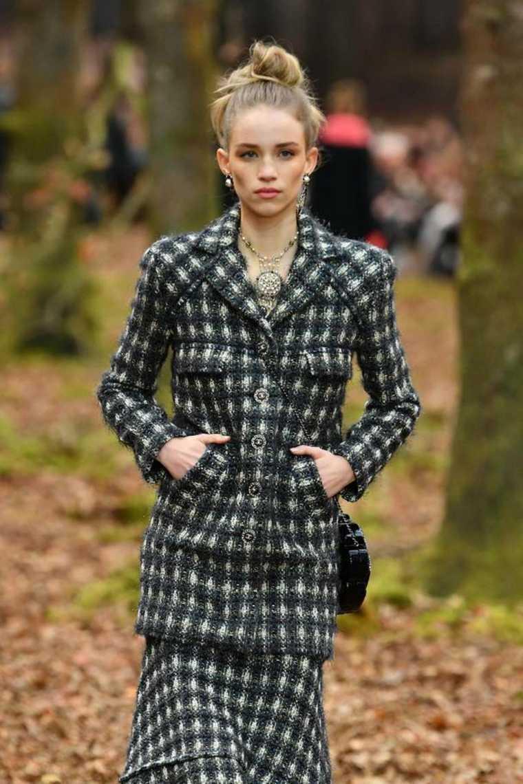 moda para mujer tweed
