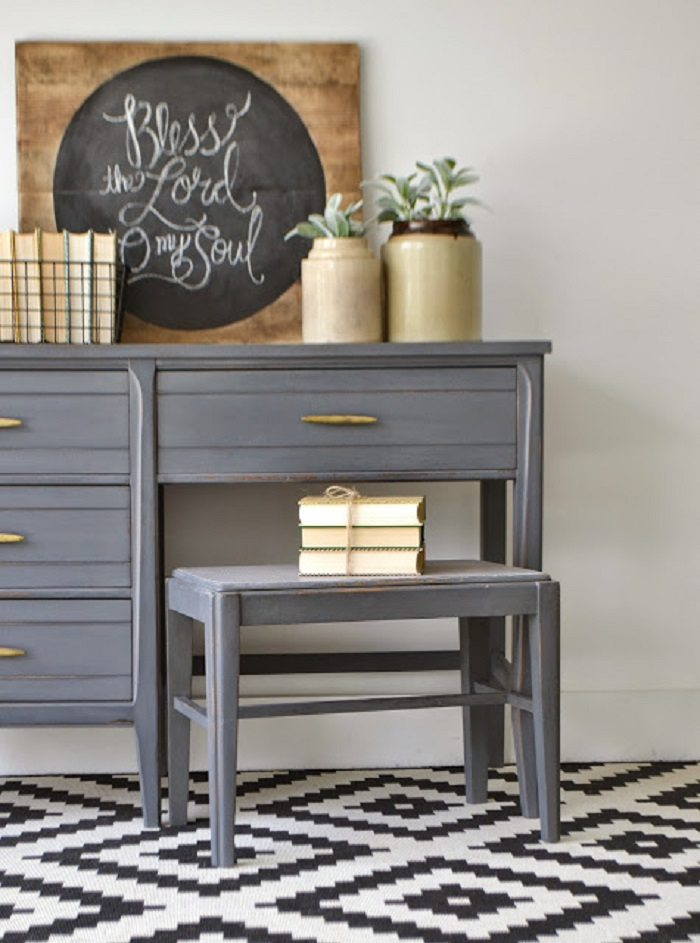 mueble acabado bello efecto gris