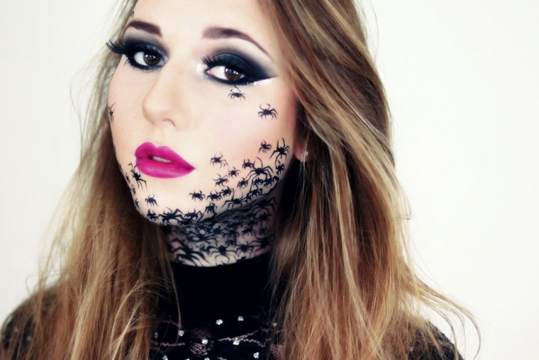 mujer-arana-maquillaje-estilo-moderno