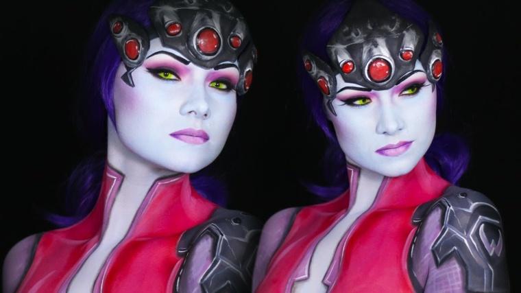 mujer-heroe-ideas-maquillaje-halloween