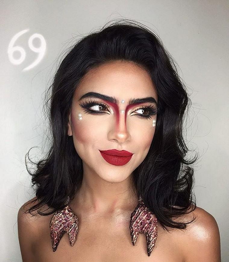mujer-opciones-maquillaje-bello-estilo