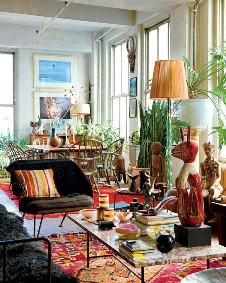 sala de estar de estilo ecléctico