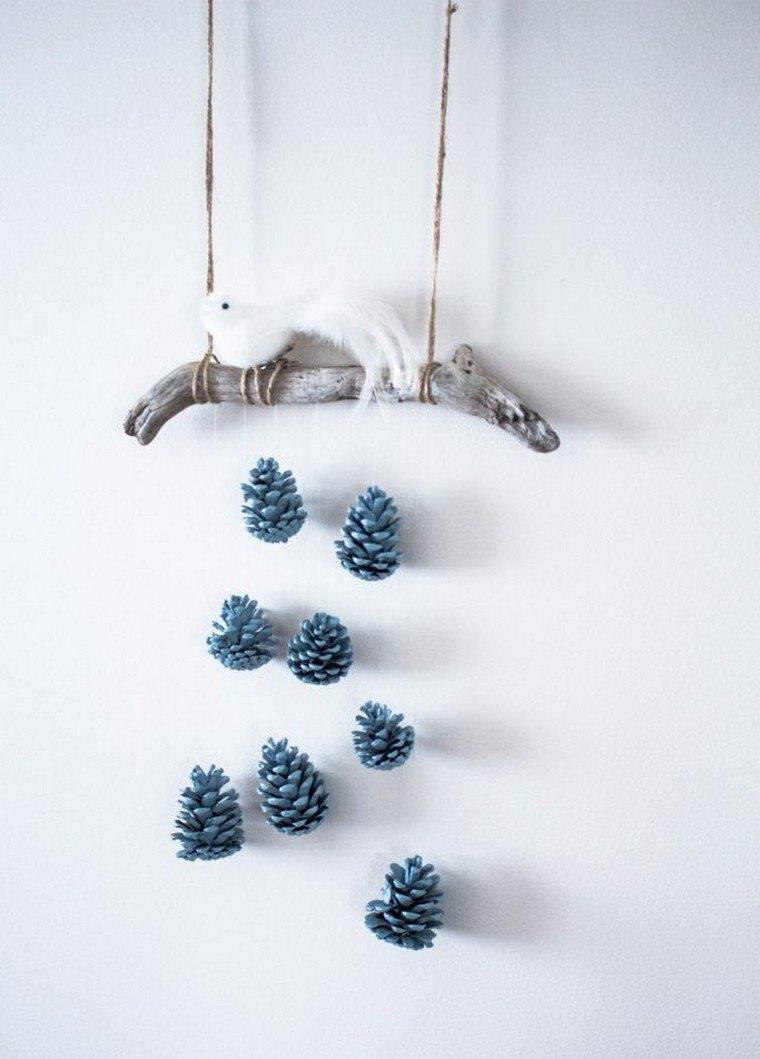 navidad adornos conos pino