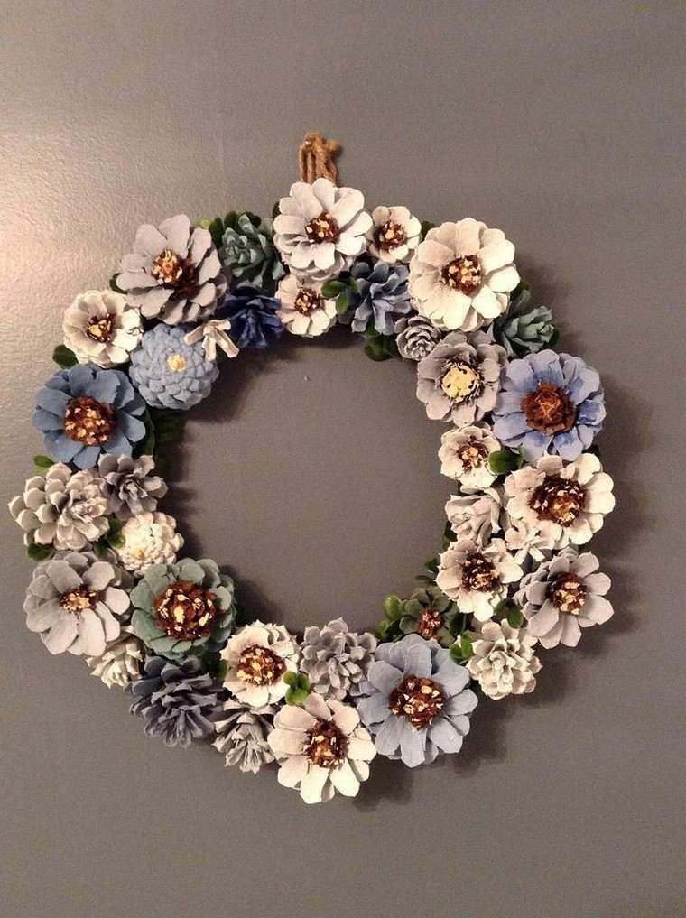 navidad adornos corona pinas
