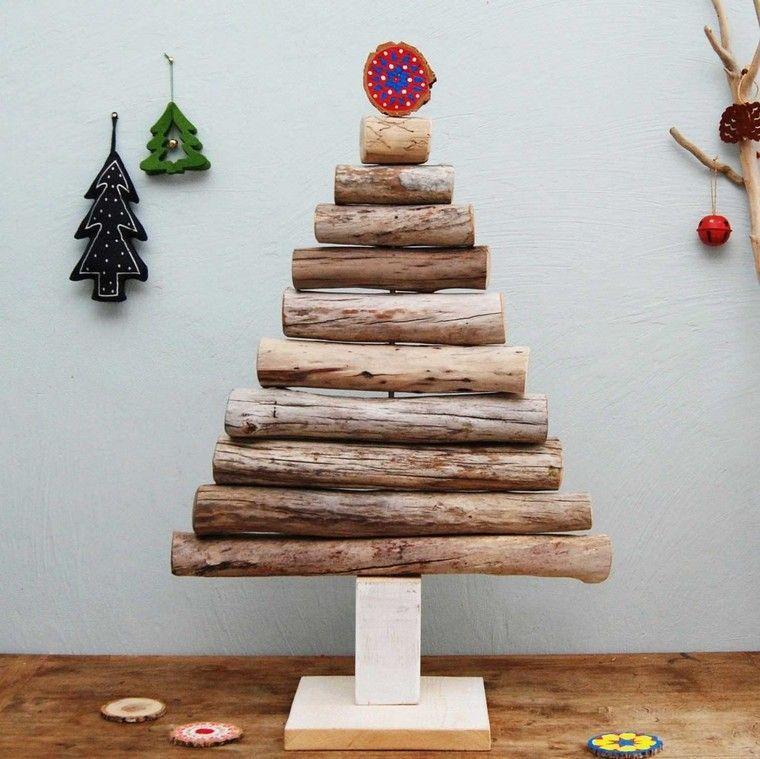 navidad adornos madera deriva