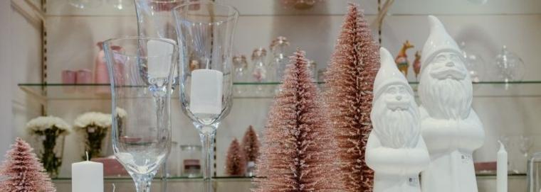adornos de Navidad color rosa