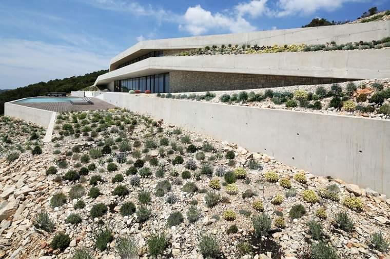 paisaje natural casa moderna diseño