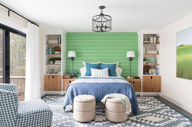 pared-cama-verde-ideas-dormitorio