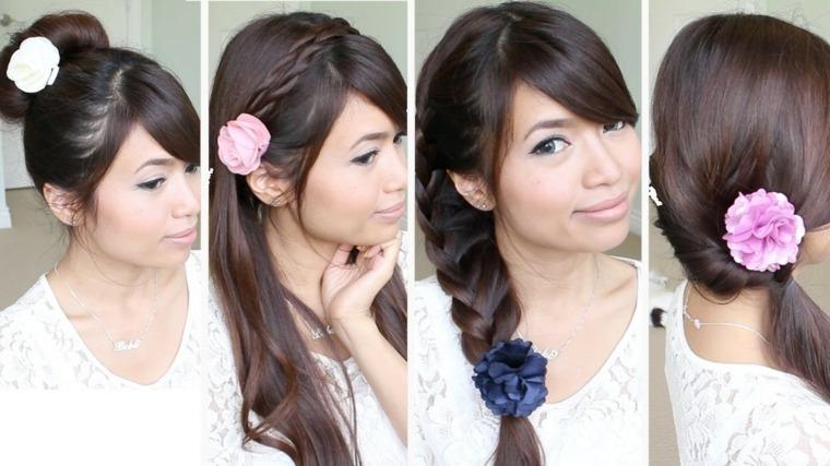 peinados de moda-faciles-flor