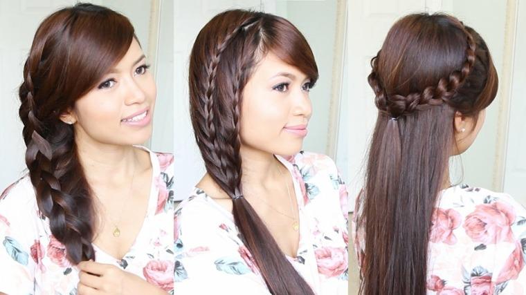peinados de moda-sencillos-trenzas