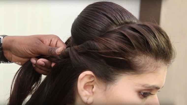 peinados faciles y rapidos-semirecogidos