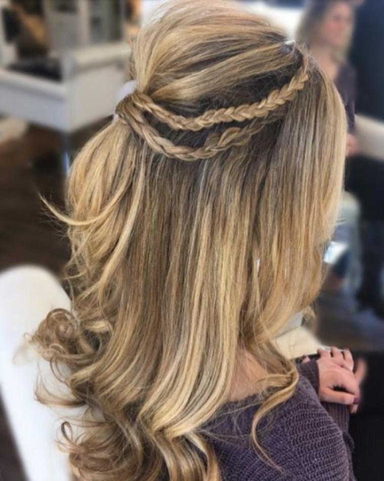 Peinados para fiesta cabello mediano