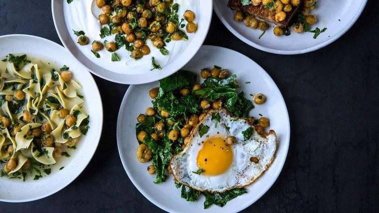recetas fáciles y economicas-garbanzos-hierbas