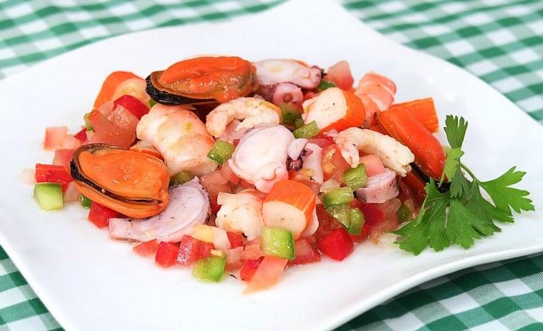 salpicon de marisco fresco receta