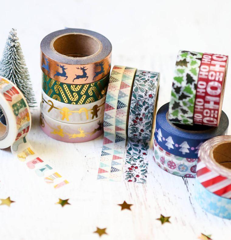 tarjetas de feliz navidad-washi-tapa