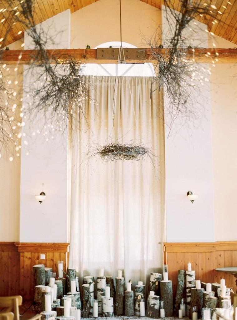 velas-madera-decoracion-techo-boda-invierno
