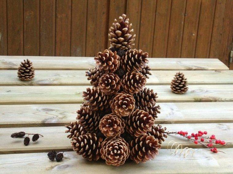 Árbol de Navidad de piñas de pino