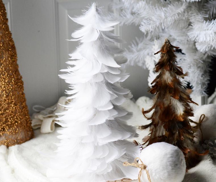 arboles-de-navidad-pequenos-plumas