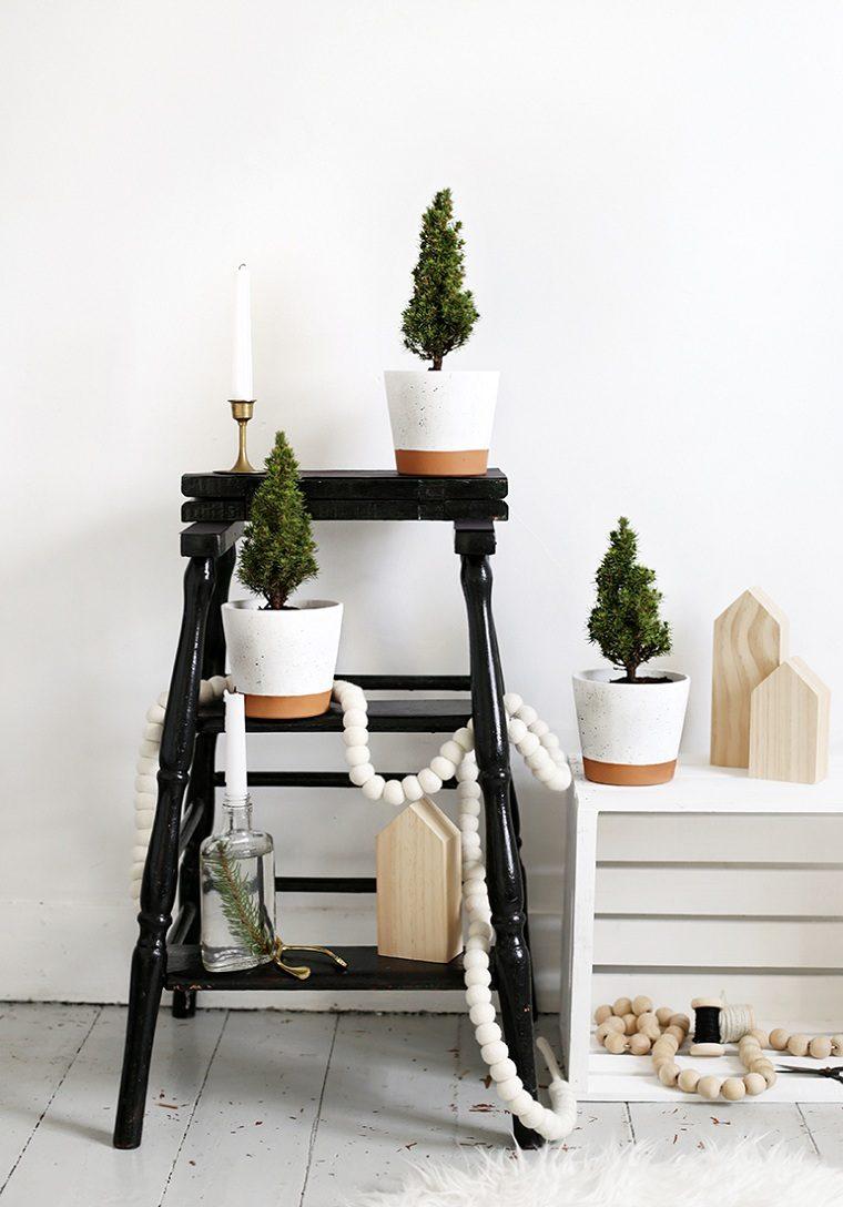 arboles-mini-macetas-decorar-casa-navidad