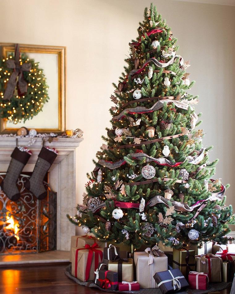 arboles-navidenos-decorados-inspiracion-bosque-rustico