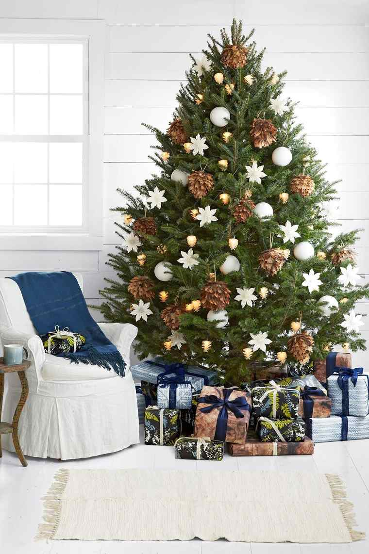 Árboles navideños decorados-inspiracion-chic