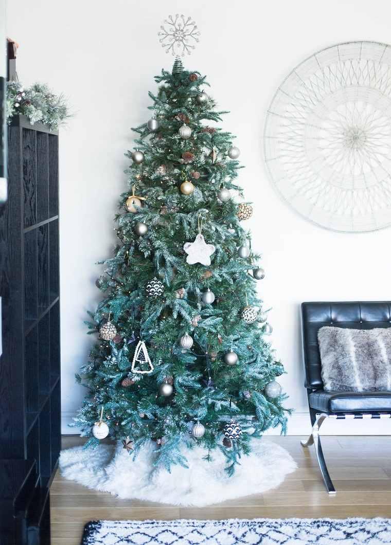 Árboles navideños decorados inspiracion-escandinava