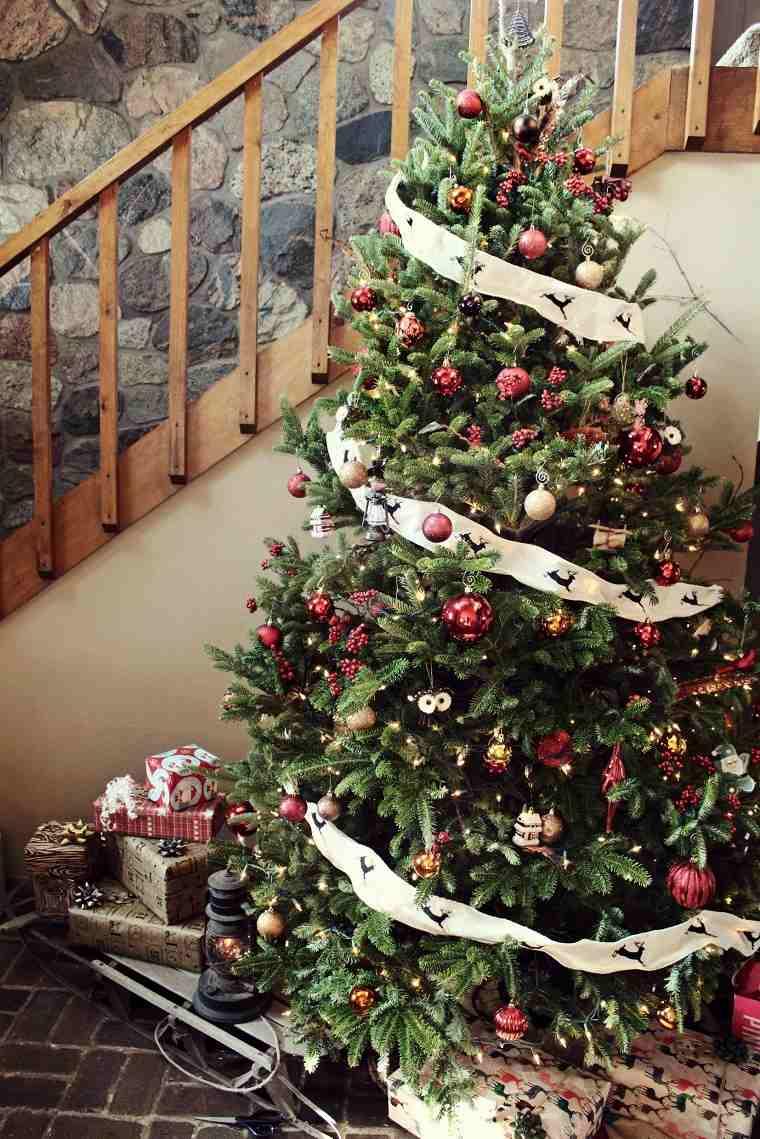 arboles-navidenos-decorados-inspiracion-rustico-estilo