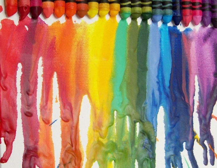 arte-creativo-crayones-derretido-colores