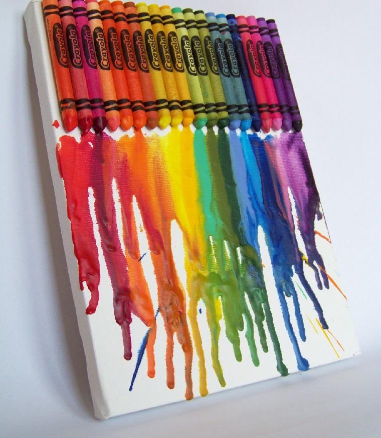 arte-creativo-crayones-derretido-cuadro