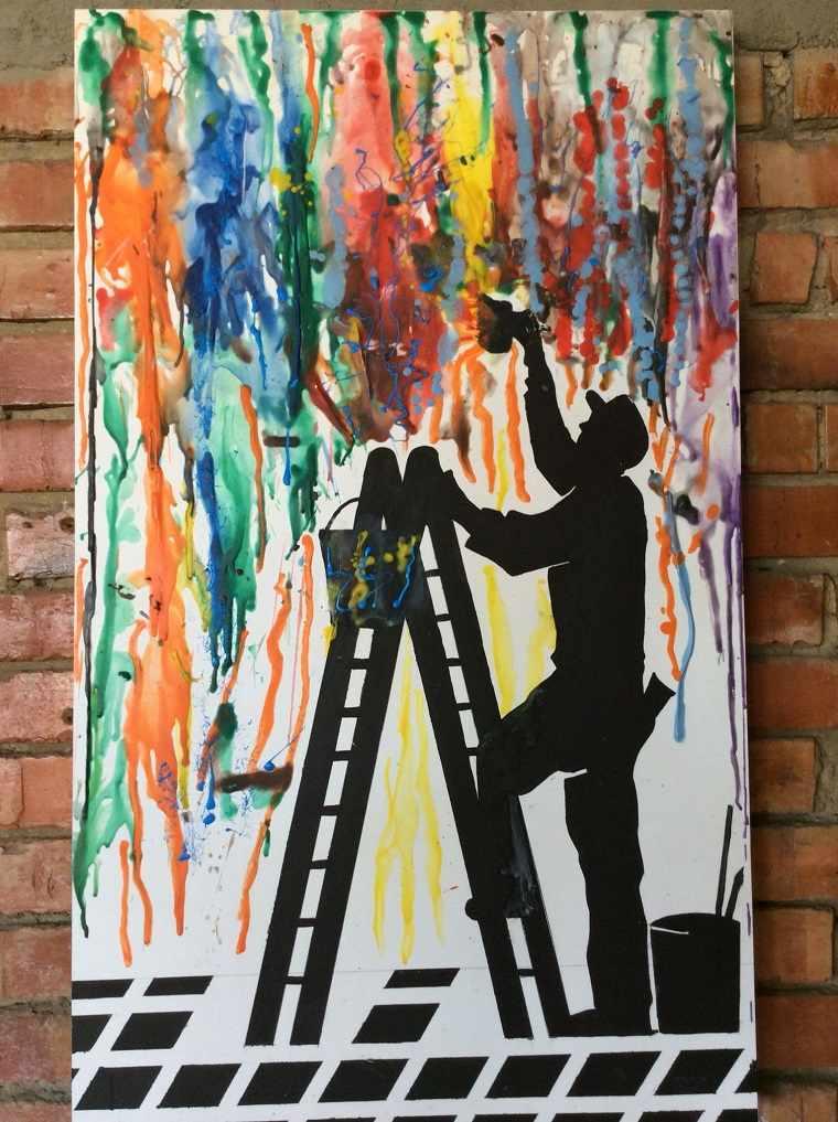 arte-creativo-crayones-derretido-opciones