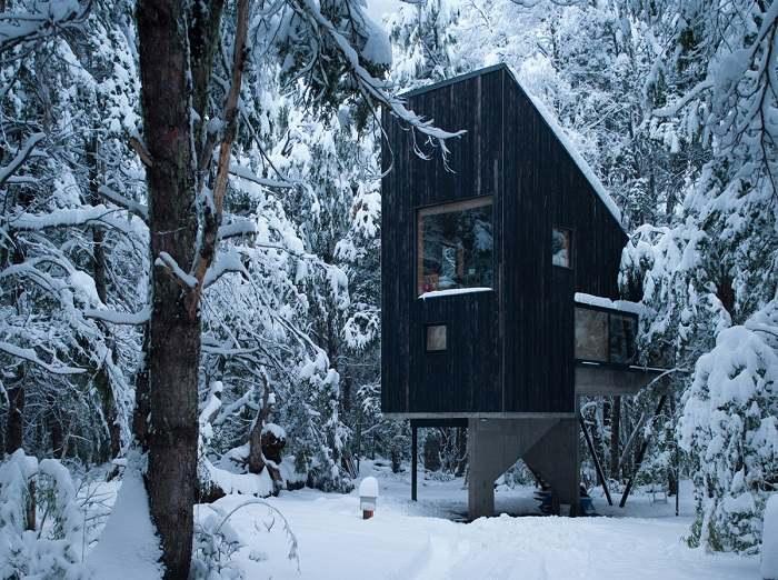 cabaña diseño diferente moderno