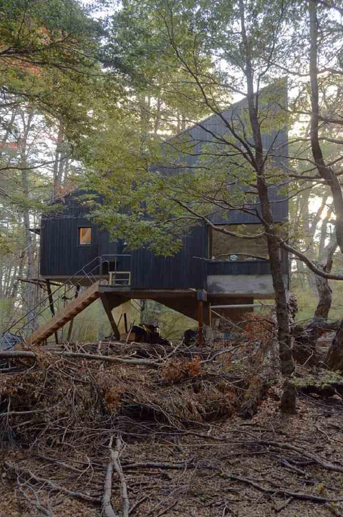 cabaña diseño moderno funcional