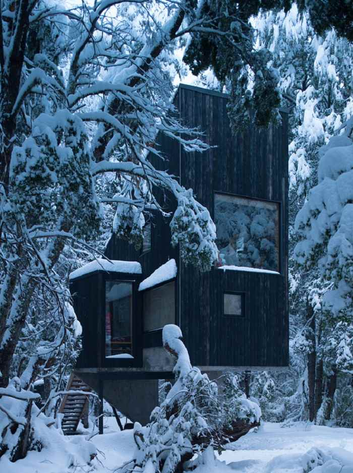 cabaña diseño relajante madera