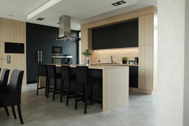 cocina-moderna-diseno-negro-madera-estilo