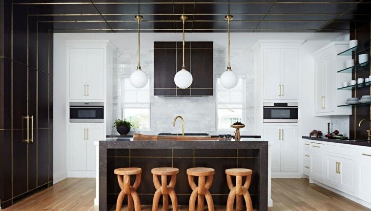 cocina-muebles-negros-detalles-oro-opciones