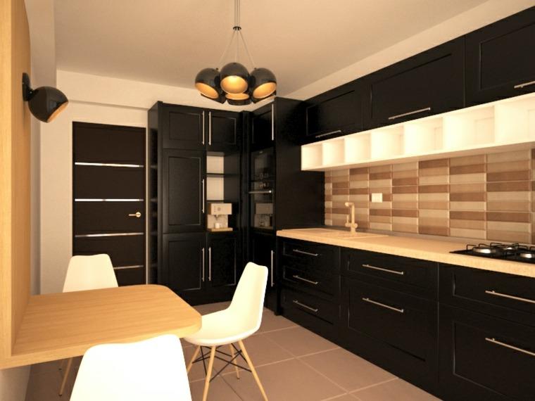 cocina-negra-elementos-madera-ideas-originales
