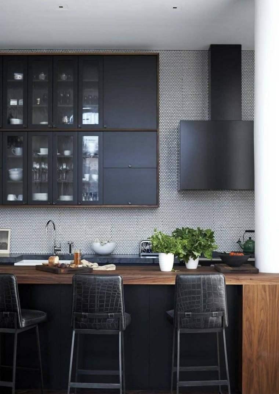 cocinas negras-encimeras-madera-opciones