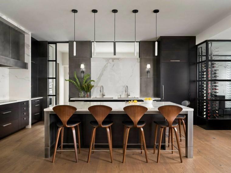 cocina-negra-sillas-madera-duet-design-group