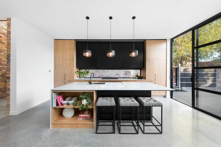 cocina-negro-madera-combinacion-ideas