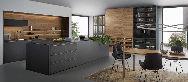 cocinas negras madera-estilo-contemporaneo