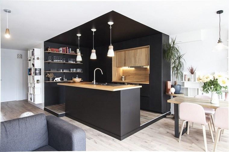 cocina-negro-madera-estilo-original
