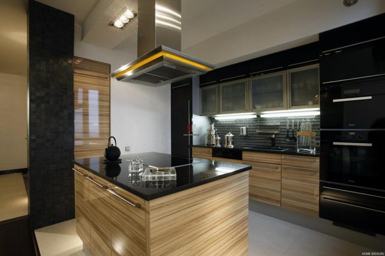 cocina-negro-madera-opciones-diseno-interior