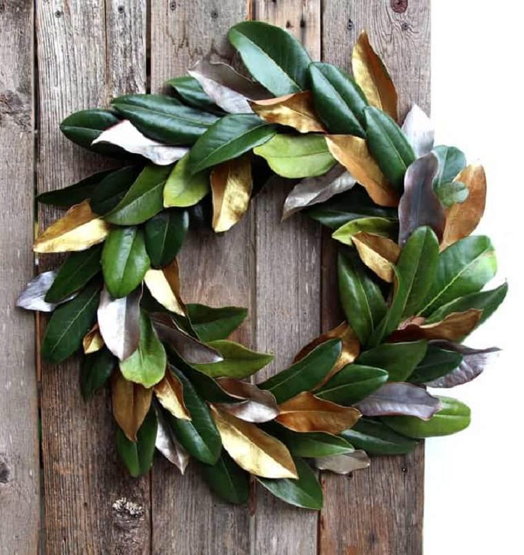 colgar-corona-hoja-magnolia-ideas