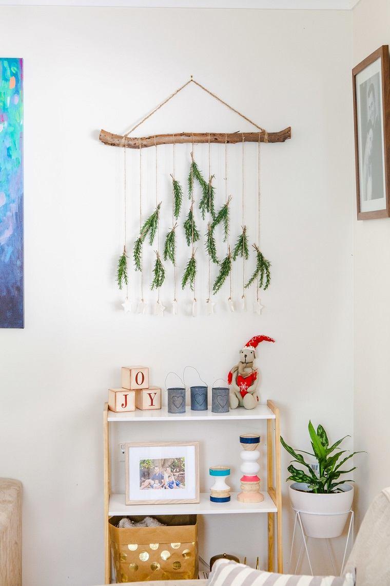 como decorar un árbol de navidad-adorno-boho