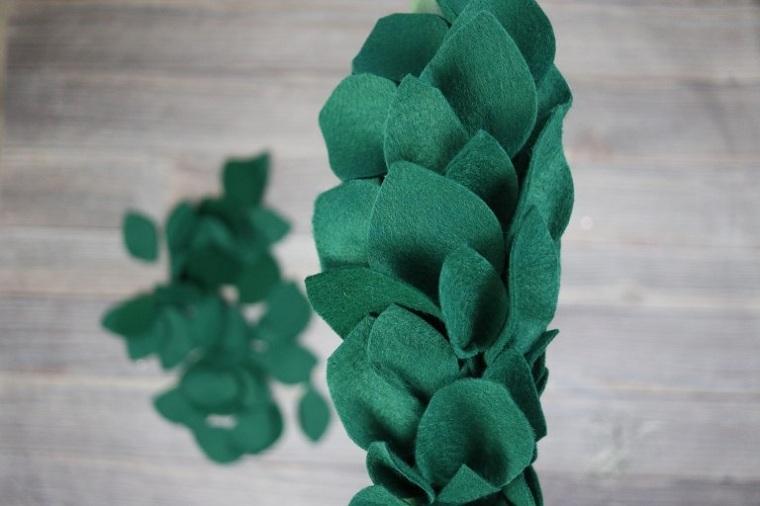 cómo hacer una corona de navidad -voluminosa-ideas-originales