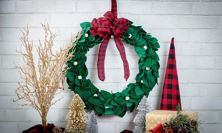cómo hacer una corona de navidad -voluminosa