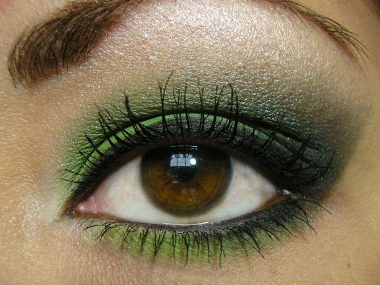como se maquillan los ojos-marrones