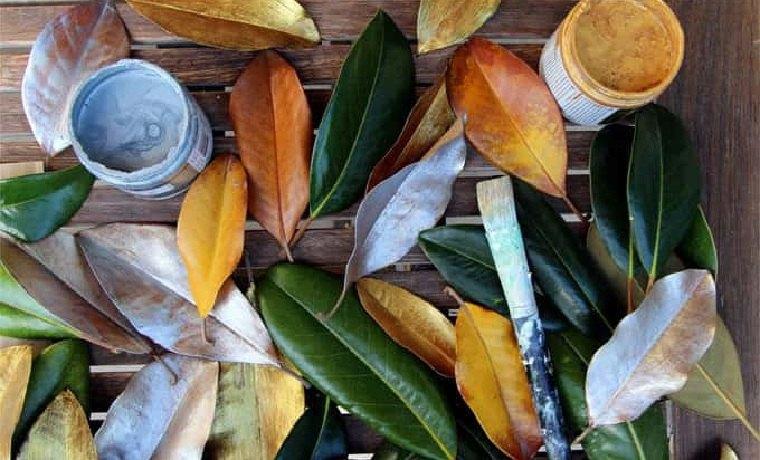 corona-navidad-diy-hojas-magnolia-pintadas